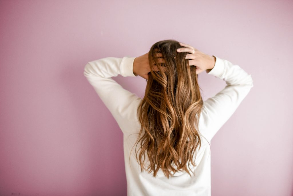 Girl with clean hair
